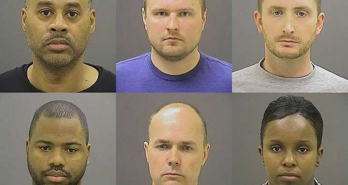These undated photos provided by the Baltimore Police Department, show Baltimore police officers, top row from left, Caesar R. Goodson Jr., Garrett E. Miller and Edward M. Nero, and bottom row from left, William G. Porter, Brian W. Rice and Alicia D. White, charged with felonies ranging from assault to murder in the police-custody death of Freddie Gray. A grand jury indicted the six officers, State's Attorney Marilyn Mosby said Thursday, May 21, 2015.