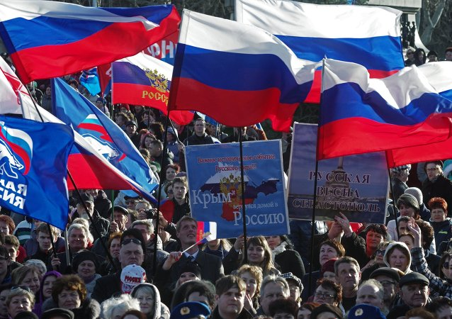 Celebration of 1st anniversary of Crimean Spring in Sevastopol